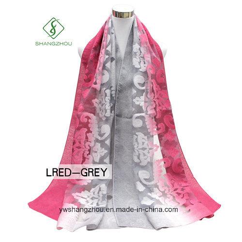 2017 Newest Multicolor Lady Fashion Silk Scarf with Cutting Flower