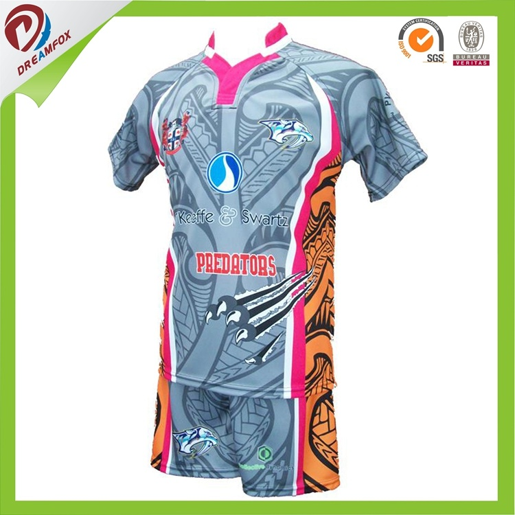 Hot Professional Subliamtion New Zealand Team Set Rugby Shirt Designs