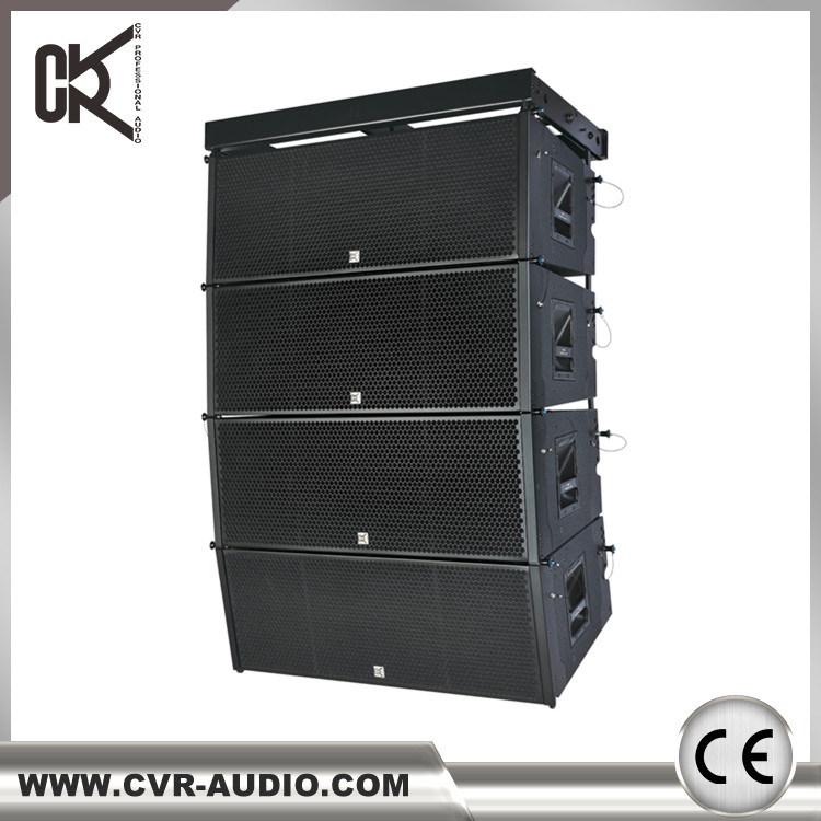 Dual 12 Inch Line Array 2000watt Outdoor Stage Sound Equipment