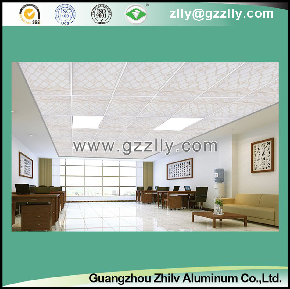 False Roller Coating Printing Ceiling Tile with Pattern -Unfolding Domination Champagne
