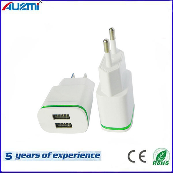 Power Adapter Dual USB Travel Charger for Mobile Phone