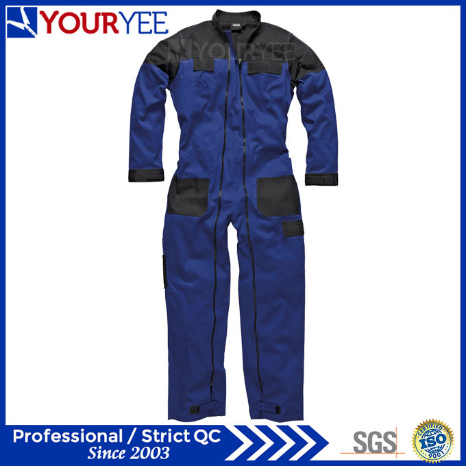 Two Tone Workwear Boiler Suit Full Double Zipper Coverall (YLT120)