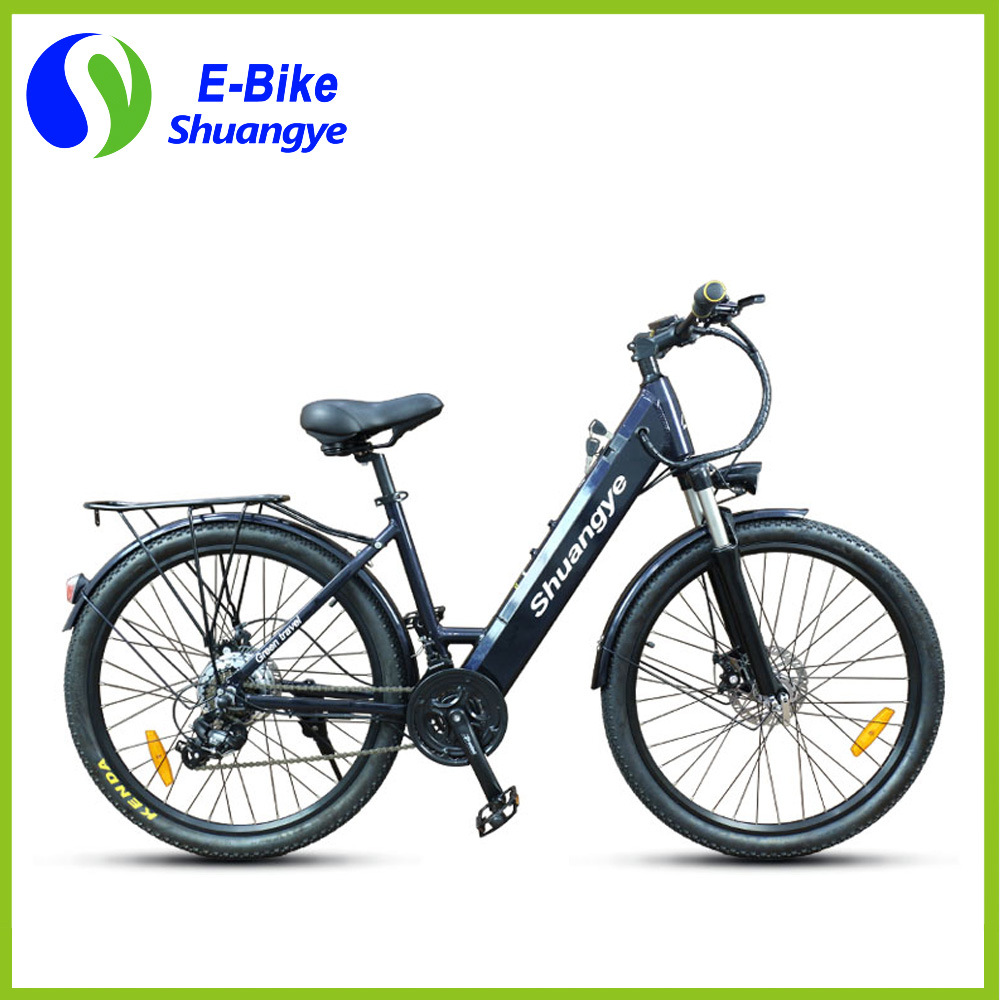 Shuangye 26′′ 28′′ Hidden Battery LCD Display Electric Mountain Bike