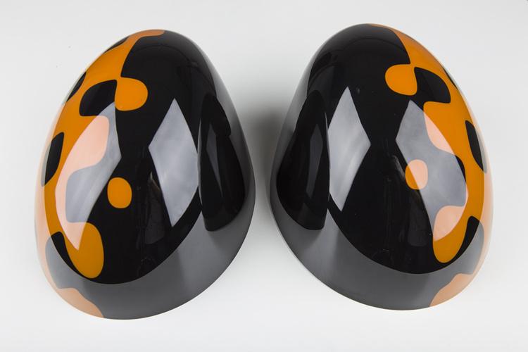 Vivid Orange Style Replacement Side Mirror Cover for Mini Cooper