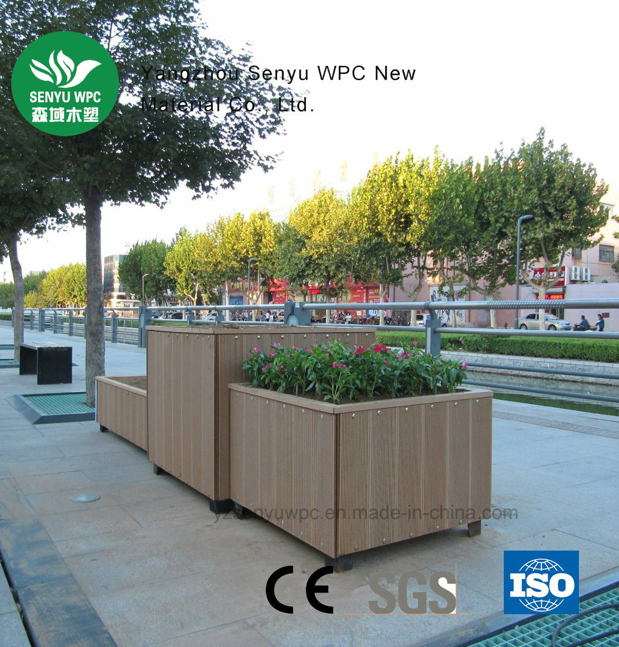 Recyclable Garden WPC Flower Box