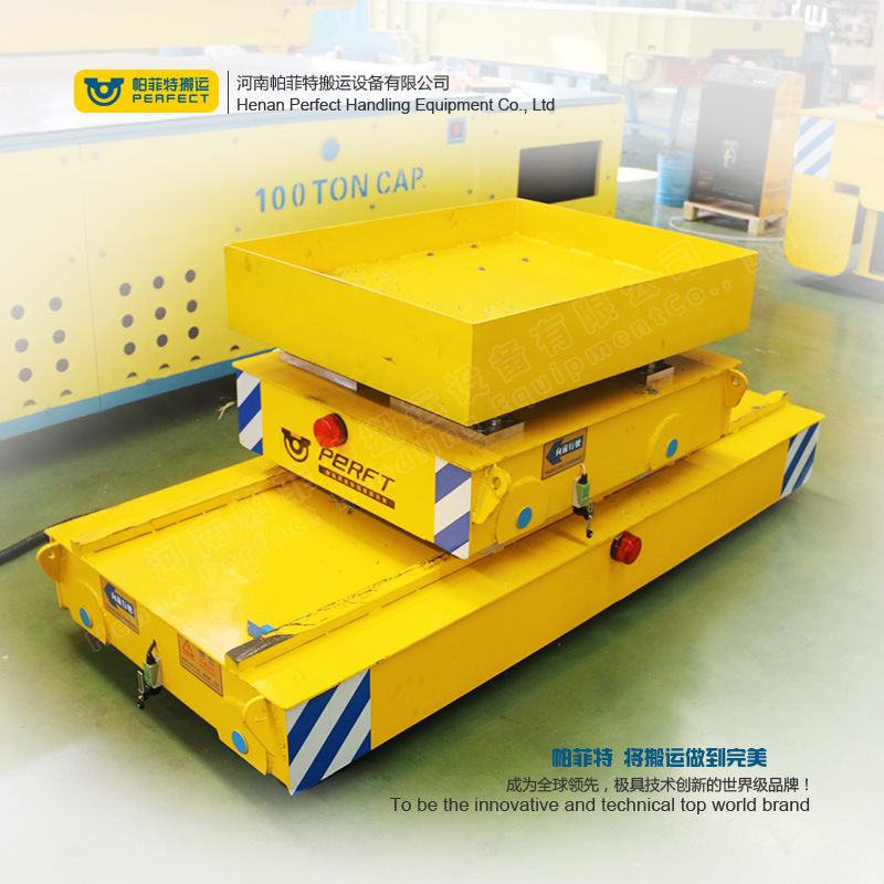 Industry Line Apply Trailer Motorized Production Transfer Bogie