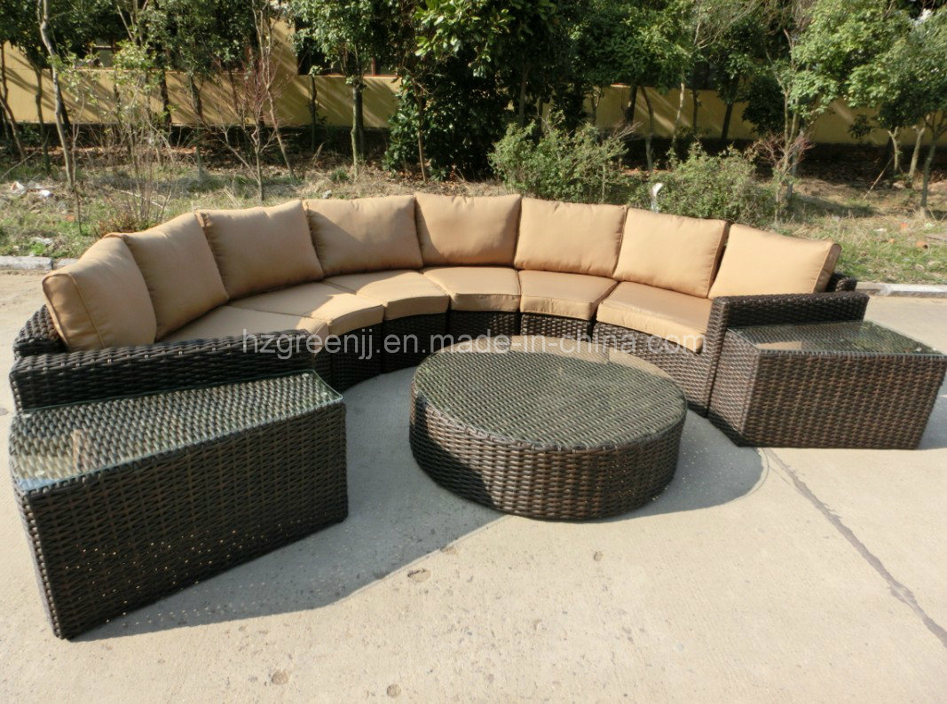 High Quality Half Round Sofa with Roundwicker