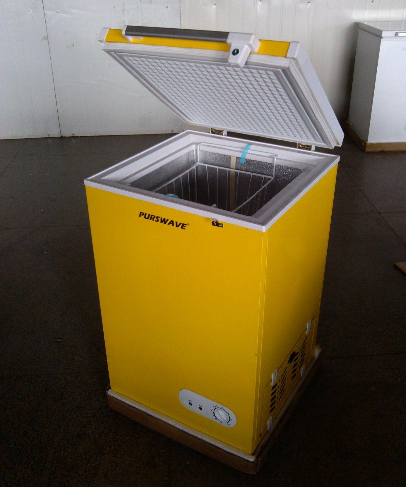 Purswave 100L DC Solar Chest Freezer 12V24V48V Refrigerator DC Compressor Battery Freezer
