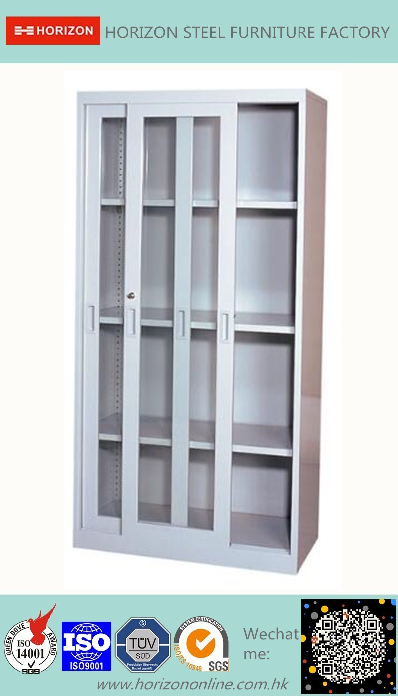 Two Sliding Doors Steel Filing Cabinet