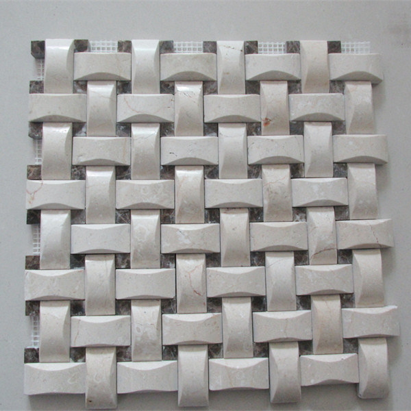 Building Material 3D Mosaic Decorative Bathroom Mosaic Wall Tile