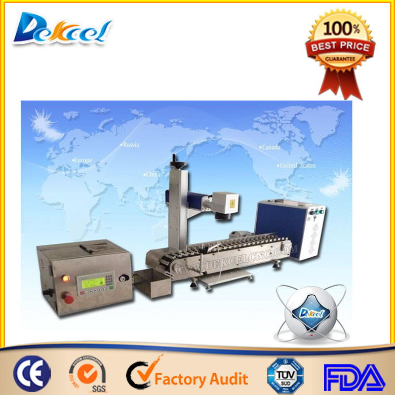 Mopa Fiber Laser Marking Engraving Equipment with Conveyer Belt for Ball Pen, Bear Bottles