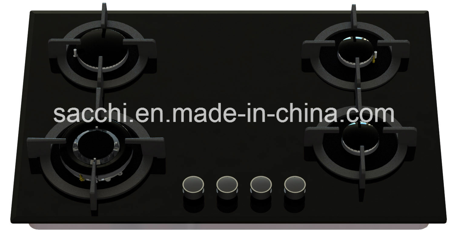 Sabaf Four Burner Tempered Glass Gas Hob