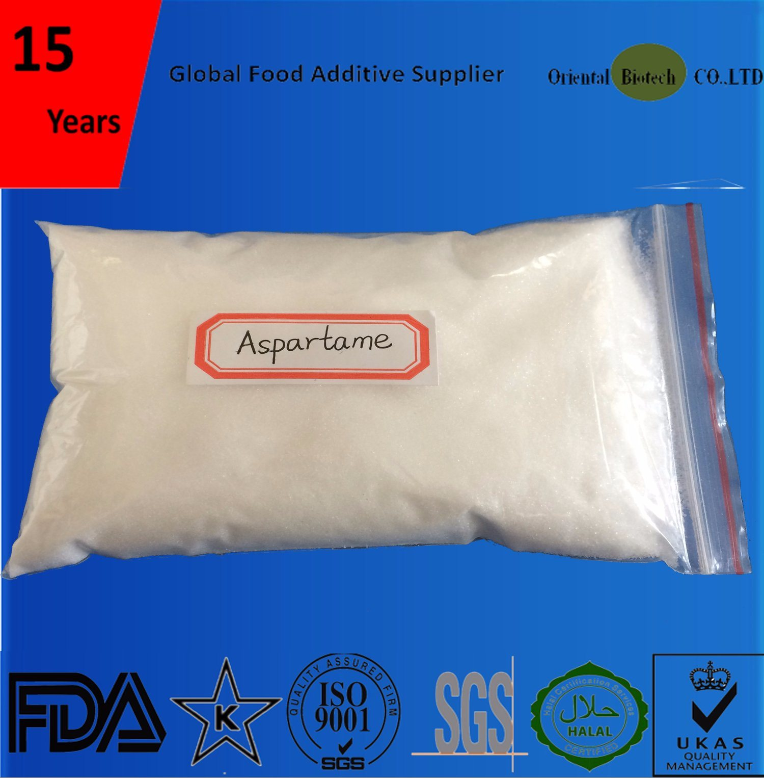 Healthy Sweetener Aspartame Powder for Food and Beverage