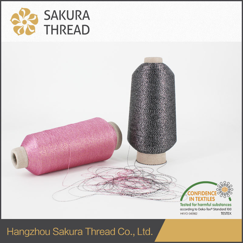 Multicolor Metallic Embroidery Thread for Fabric with High Class