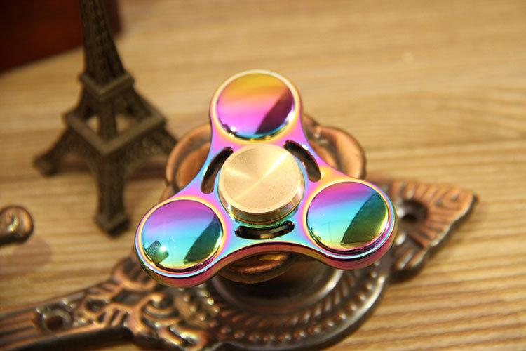 Spinner Toy Colorful Fingertip Gyro UFO Zinc Alloy Fidget Finger