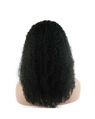 "18"" #1b Kinky Curly Lace Front Wig"