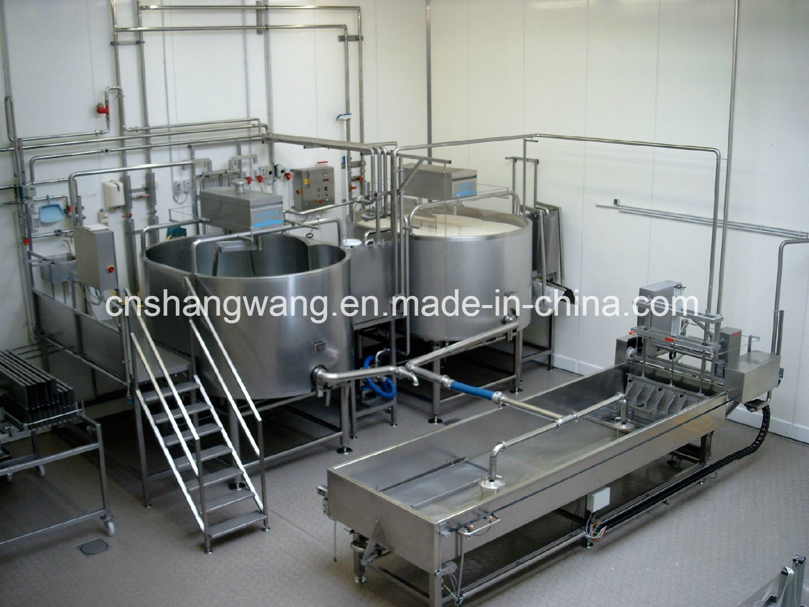 500L Round Cheese Vat/Cheese Production Line