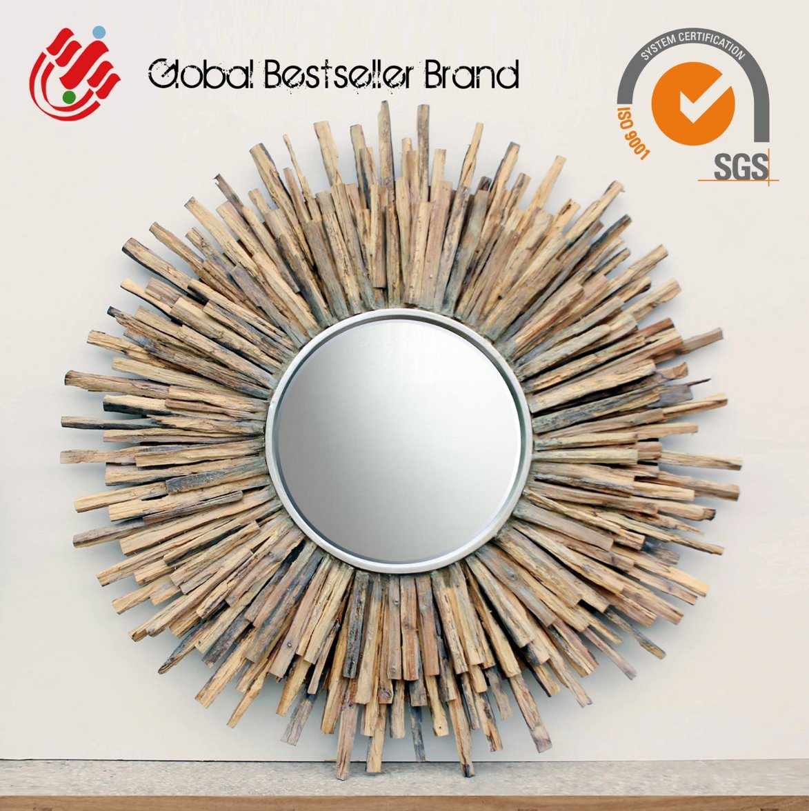 Special Shape Weathered Home Decorative Wall Mirror (LH-M170609)