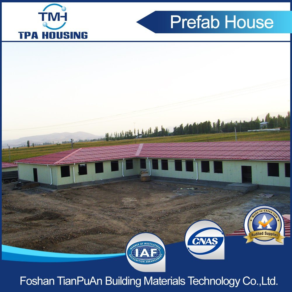 Light Steel Structure Frame Prefab Houses Building Made of Sandwich Panel