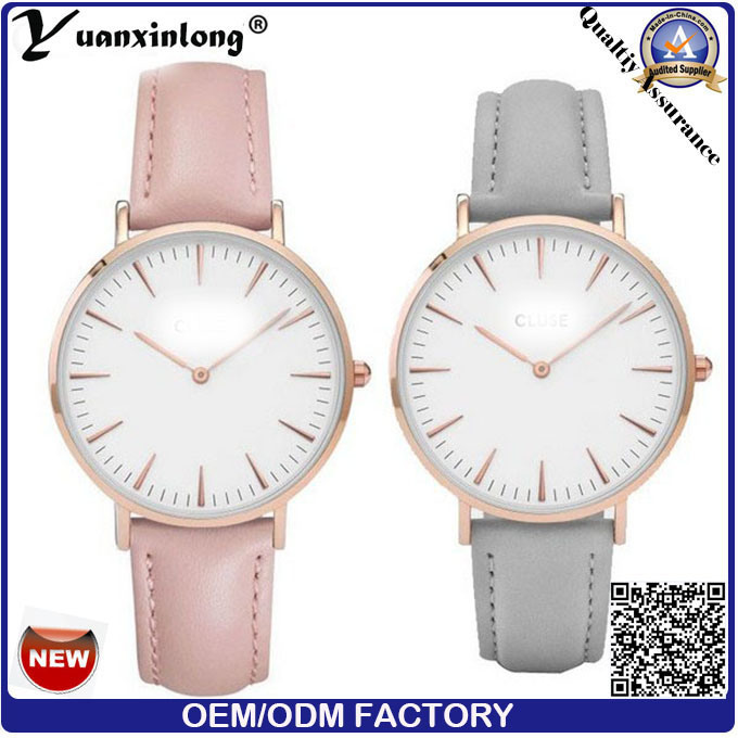 Yxl-015 Stainless Steel Back Case Dw Style Watch for Men and Women