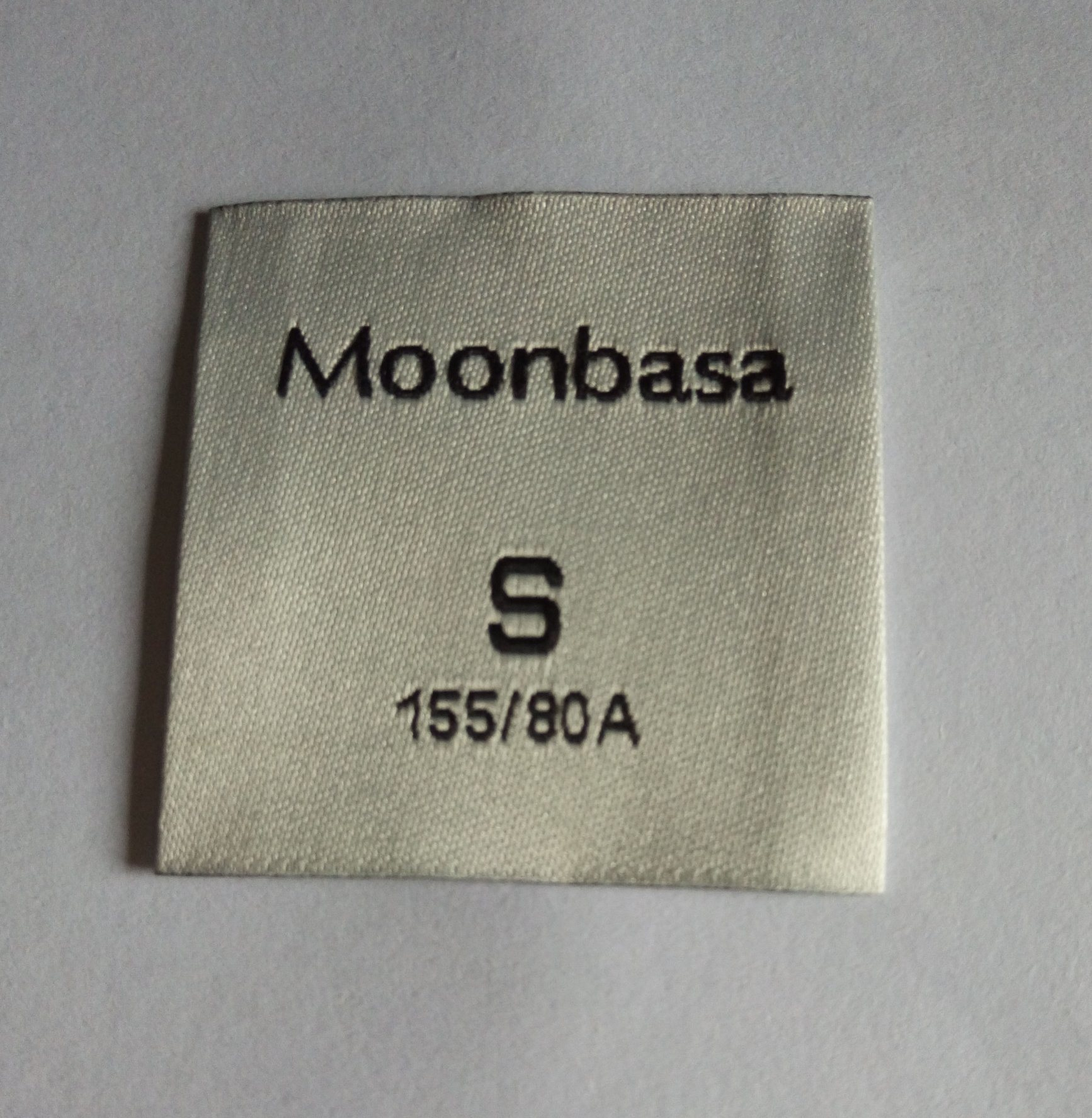 Clothing Main and Size Woven Label