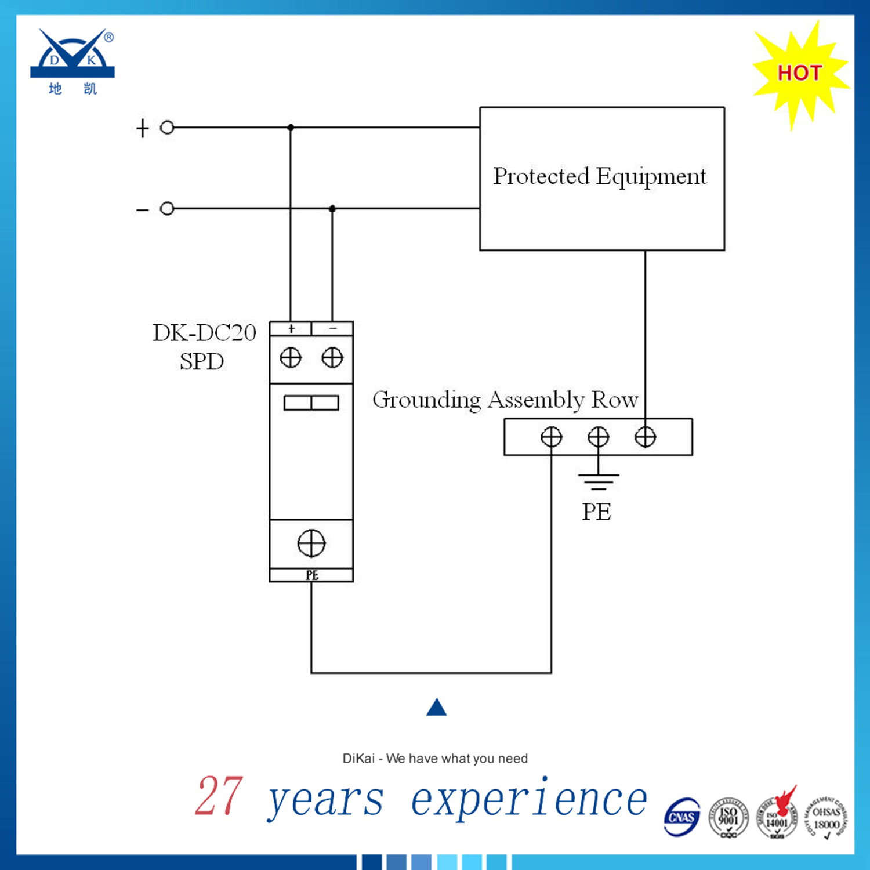 IEC61643 1p 8/20 40ka SPD DC 24V 48V Surge Protector
