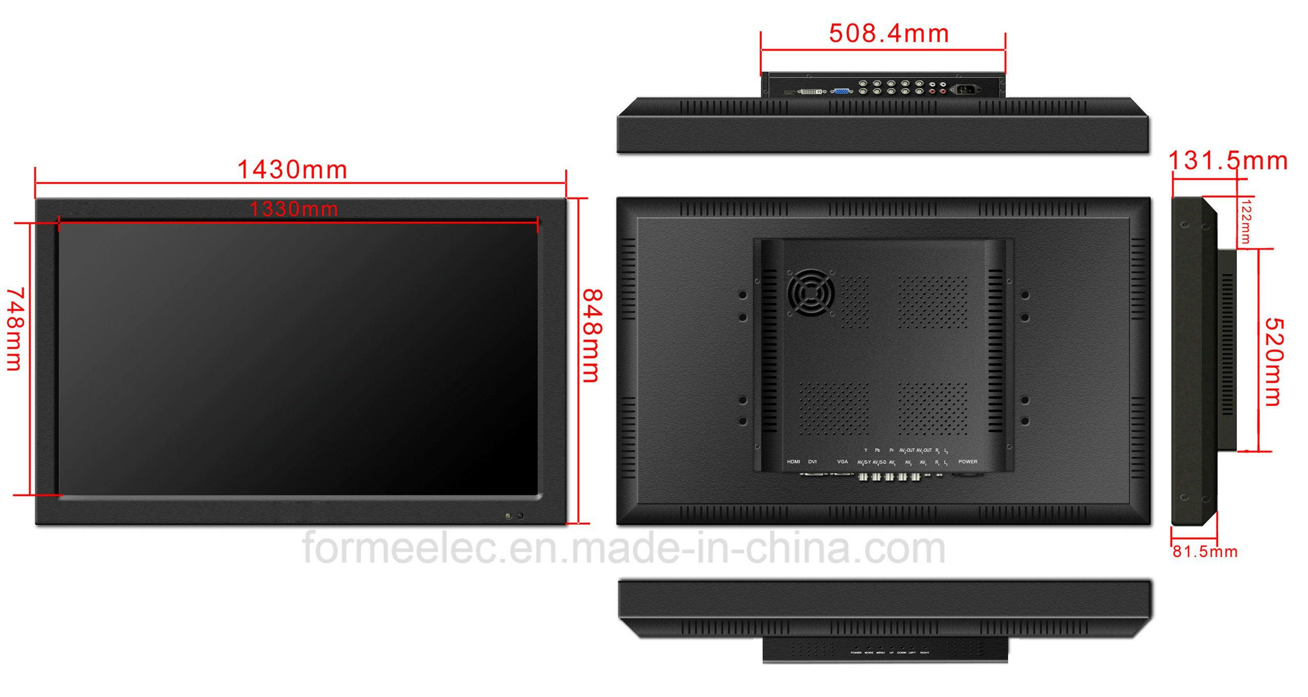 60 Inch LCD Monitor Brightness 600nits LED Monitor