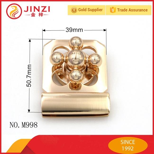 Luxury Design Zinc Alloy Zip Twist Bag Lock