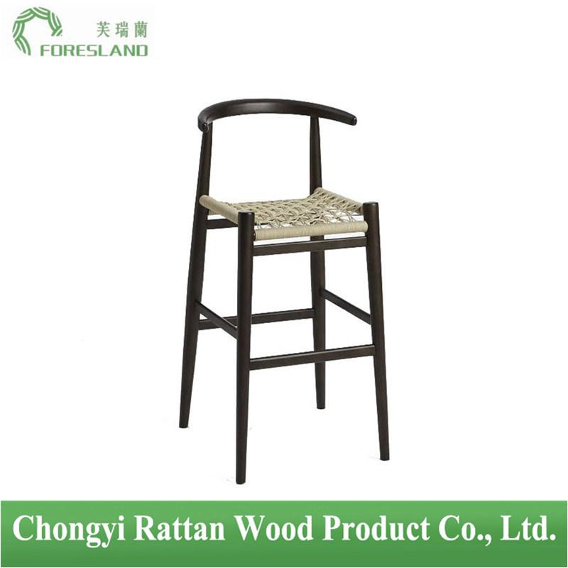 Wooden Nordic Horns Bar Stool Bar Chair