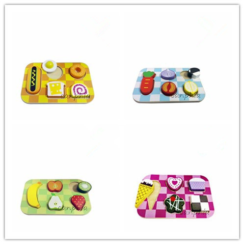 Wooden Foodset Educational Puzzle Wooden Toys (CA04006)