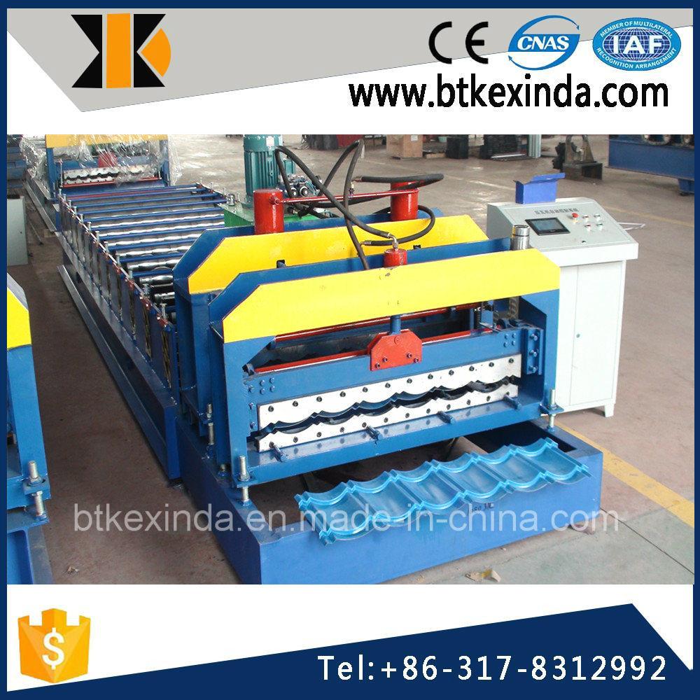 Kxd 1080 Glazed Tile Metal Roofing Sheet Making Machine