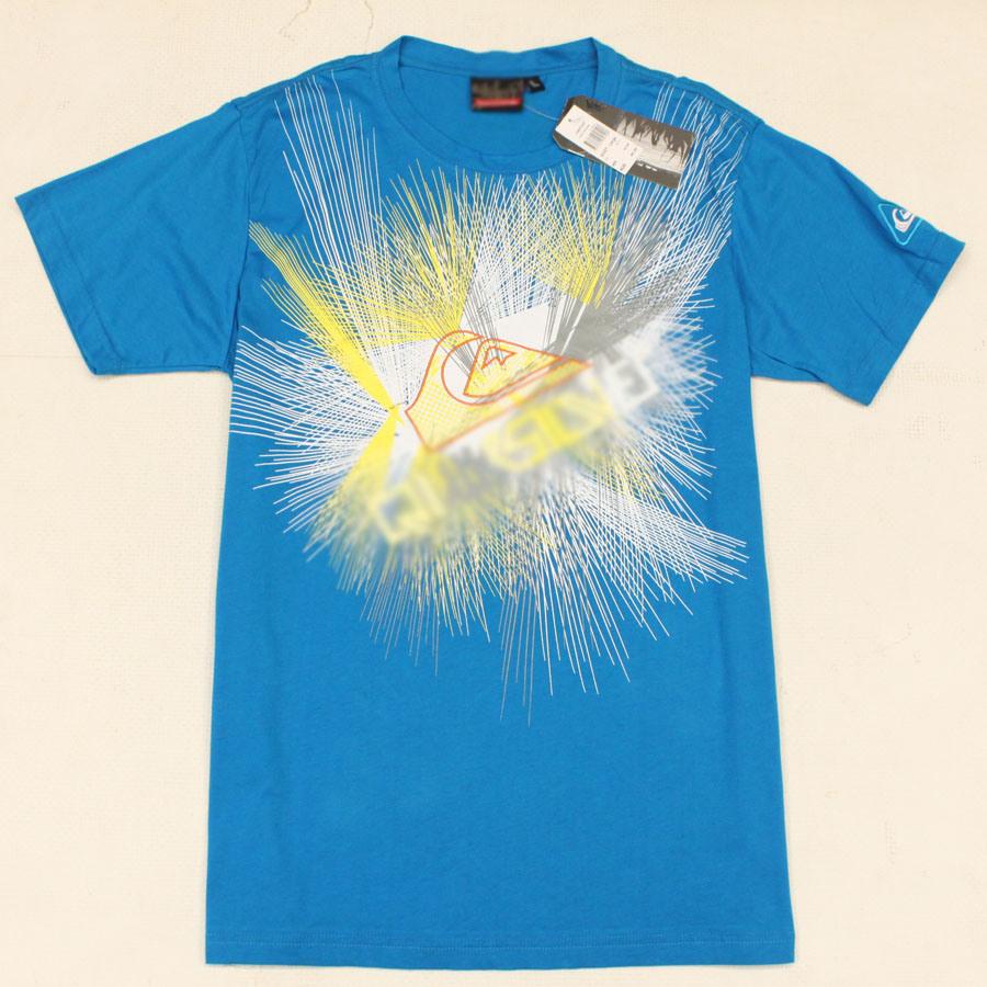 China Brand Fashion T Shirt Men Top Cotton T Shirt Blue