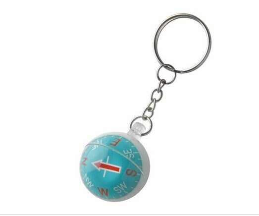 Cheap Plastic Ball Shape Keychain Compass