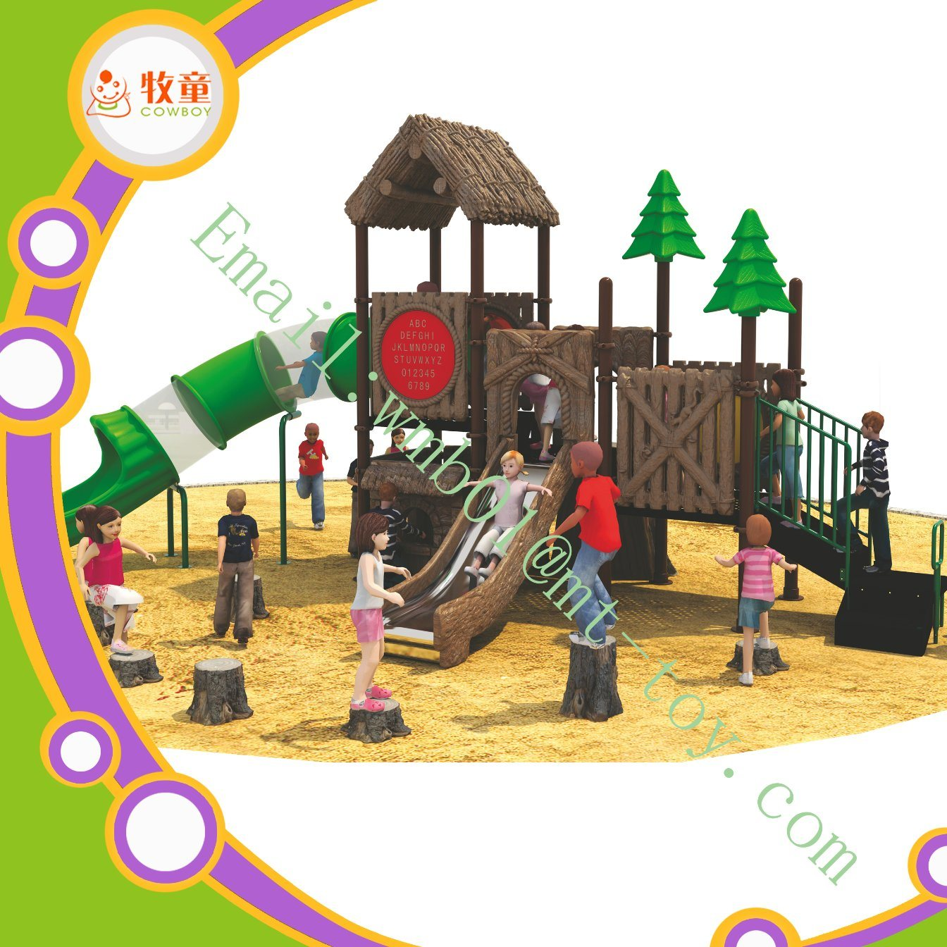 Amusement Park Big Playground Equipment Set for Kids to Play
