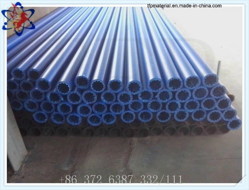 3 Million Molecular Weight Pure Blue Color UHMWPE Pipe