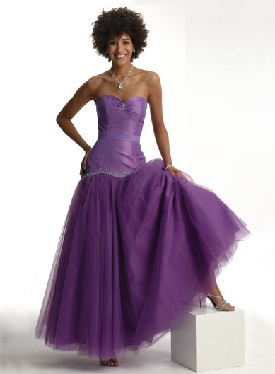purple prom dresses. Elegant Purple Prom Dress and