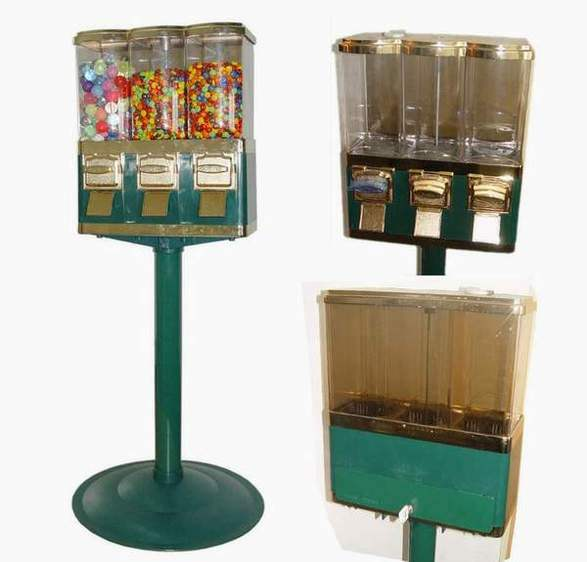 Triple Candy or Gumball or Toy Capsule Vending Machine (CM-003H)