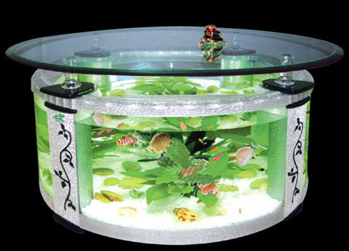 Glass Tea Table Aquarium/Acrylic Table Fish Tank (CJ-005) - China ...