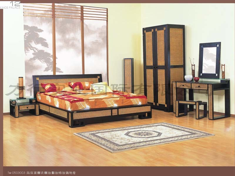 china rattan furniture bedroom set my tw 0503003 china
