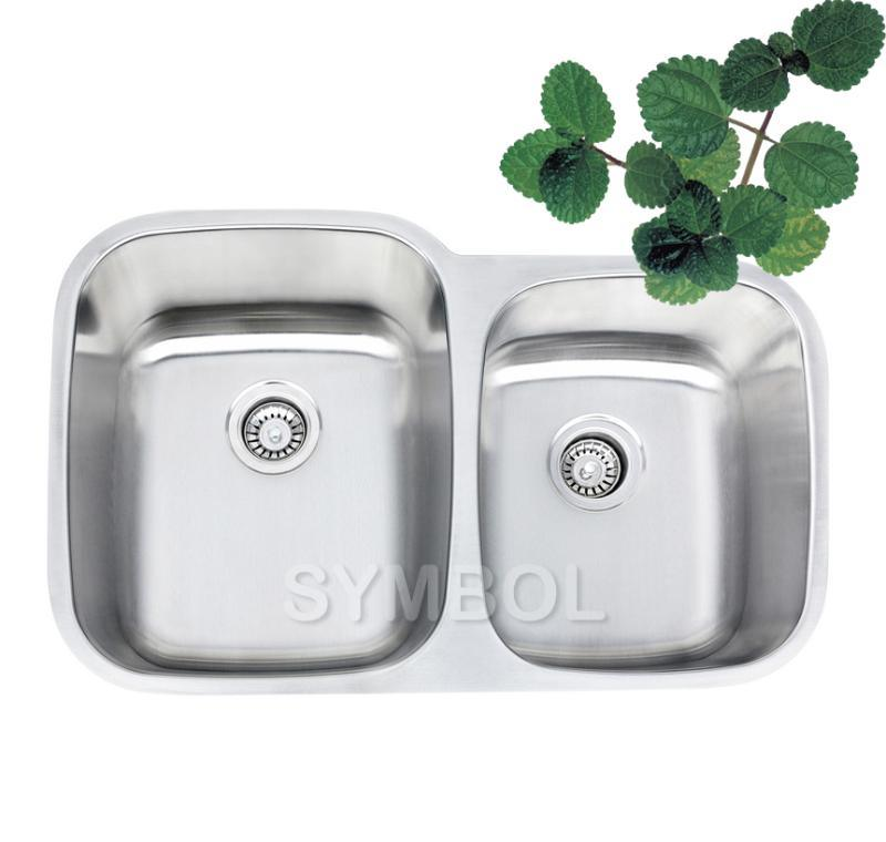 Double Bowl Kitchen Stainless Steel Sink (SS-SS3221L) - China Double ...