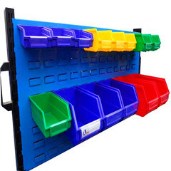 workshop spare plastic stackable storage part hang box bins