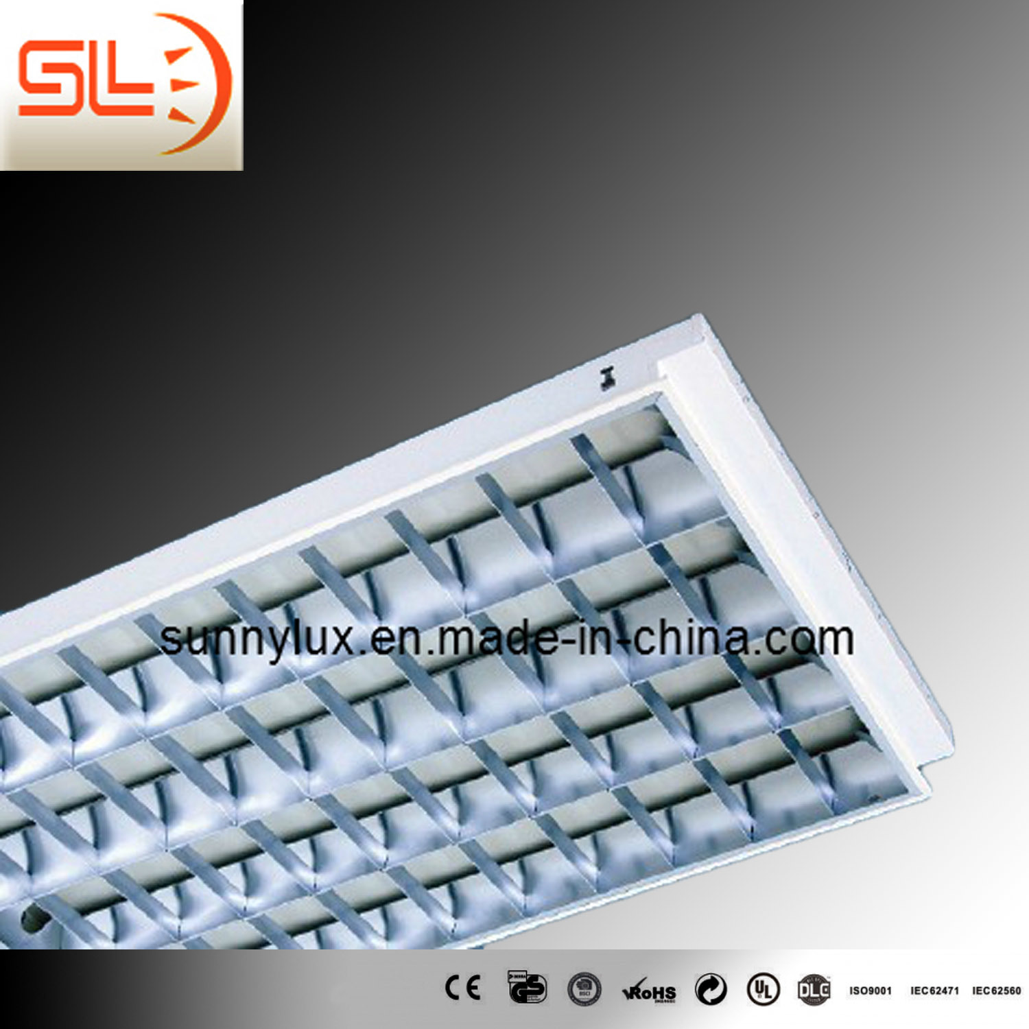 T8 Recessed Grid Lamp, 4*58W