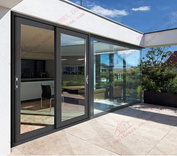 Economy Powder Coating Aluminum Sliding Door (BHA-DS01)