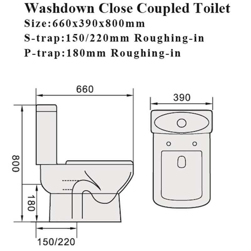Watermark Sanitary Ware Water Closet Bathroom Ceramic Toilet