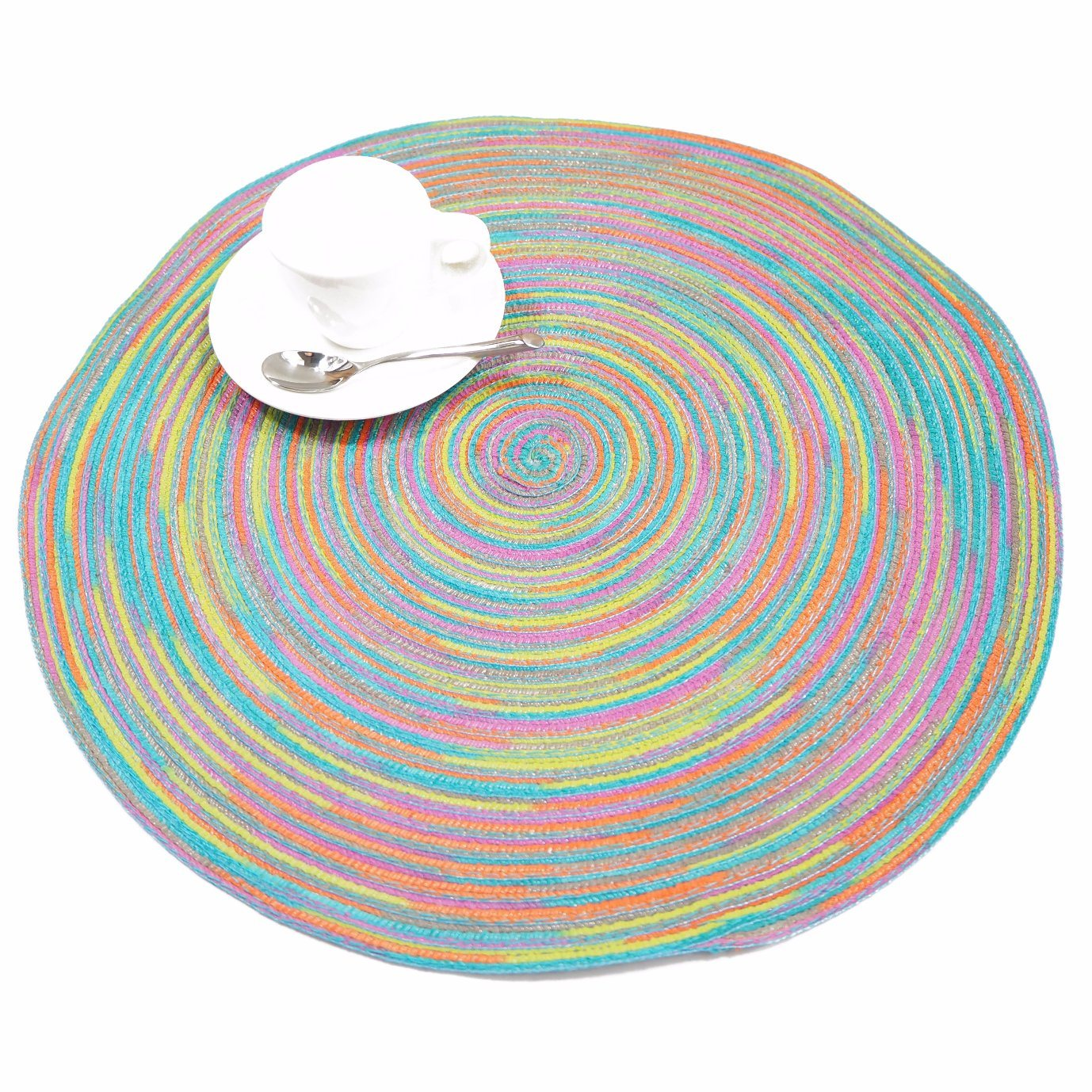 Colorful 100% Polyester Woven Placemat for Tabletop