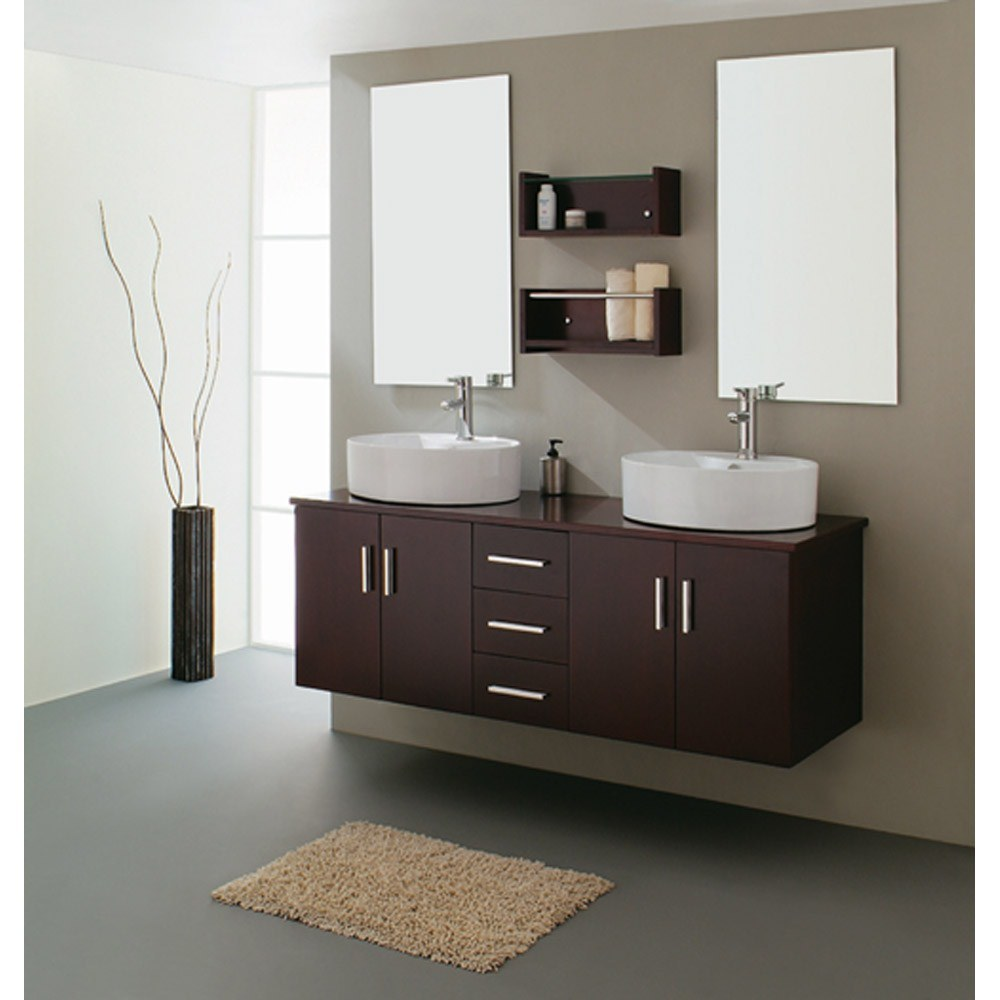 China double sink bathroom vanities 21730b china for Bathroom cabinet ideas furniture