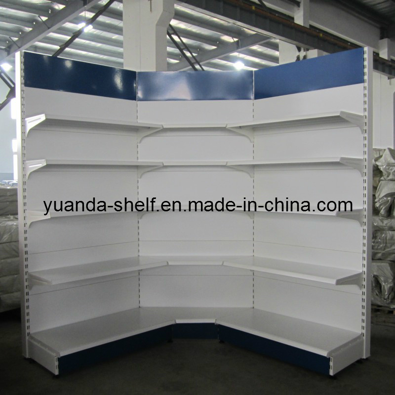 Supermarket Shop Goods Display Wall Corner Steel Shelf