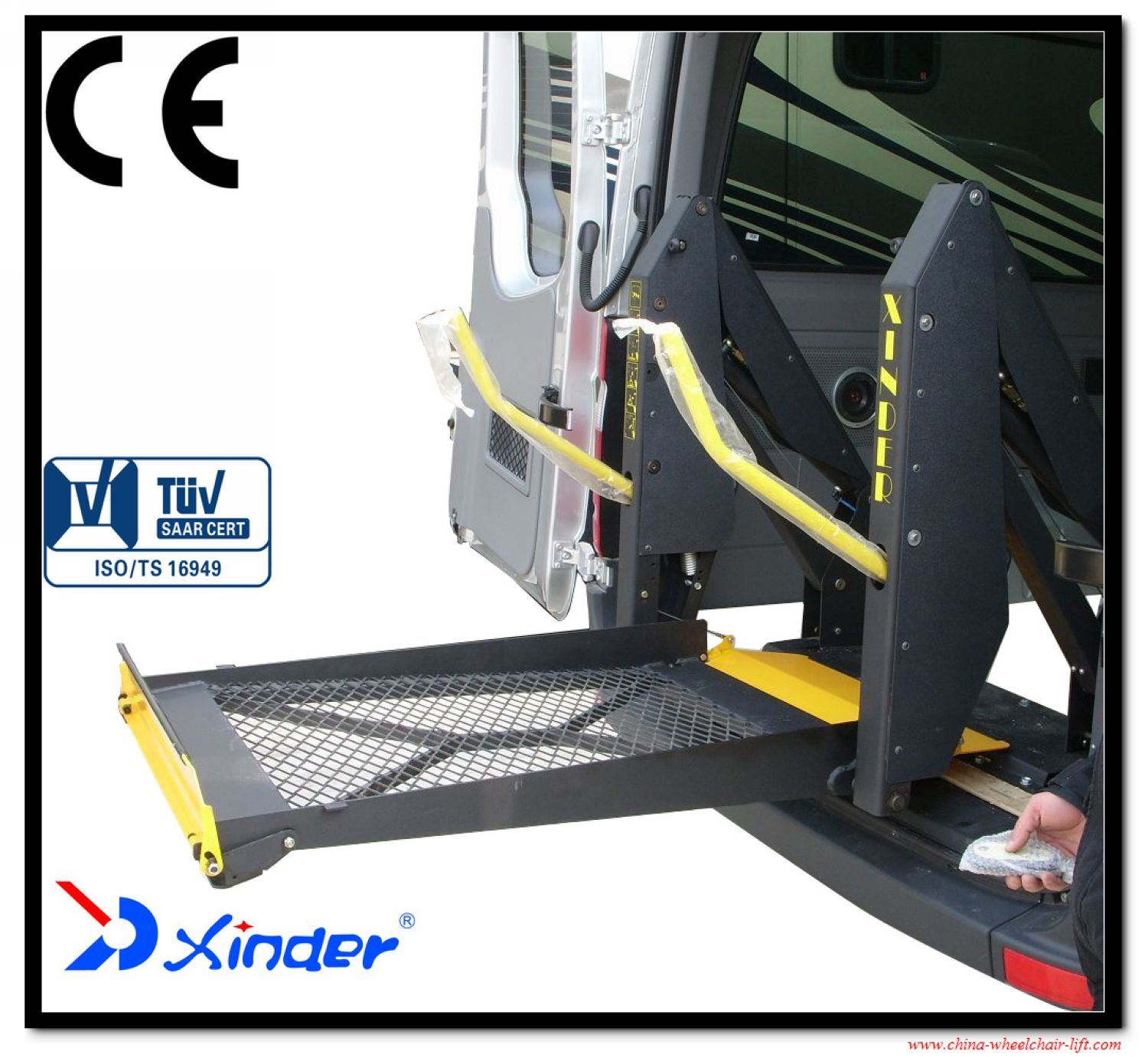 Wl-D Series Mobility Wheelchair Lift for Van for Disabled People with Ce Certificate