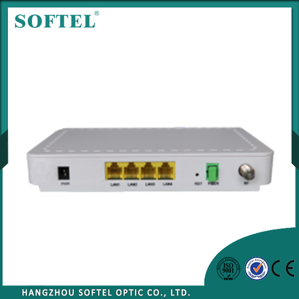 Custom 1 Pon Port 4ge CATV Single Fiber Gpon Ont