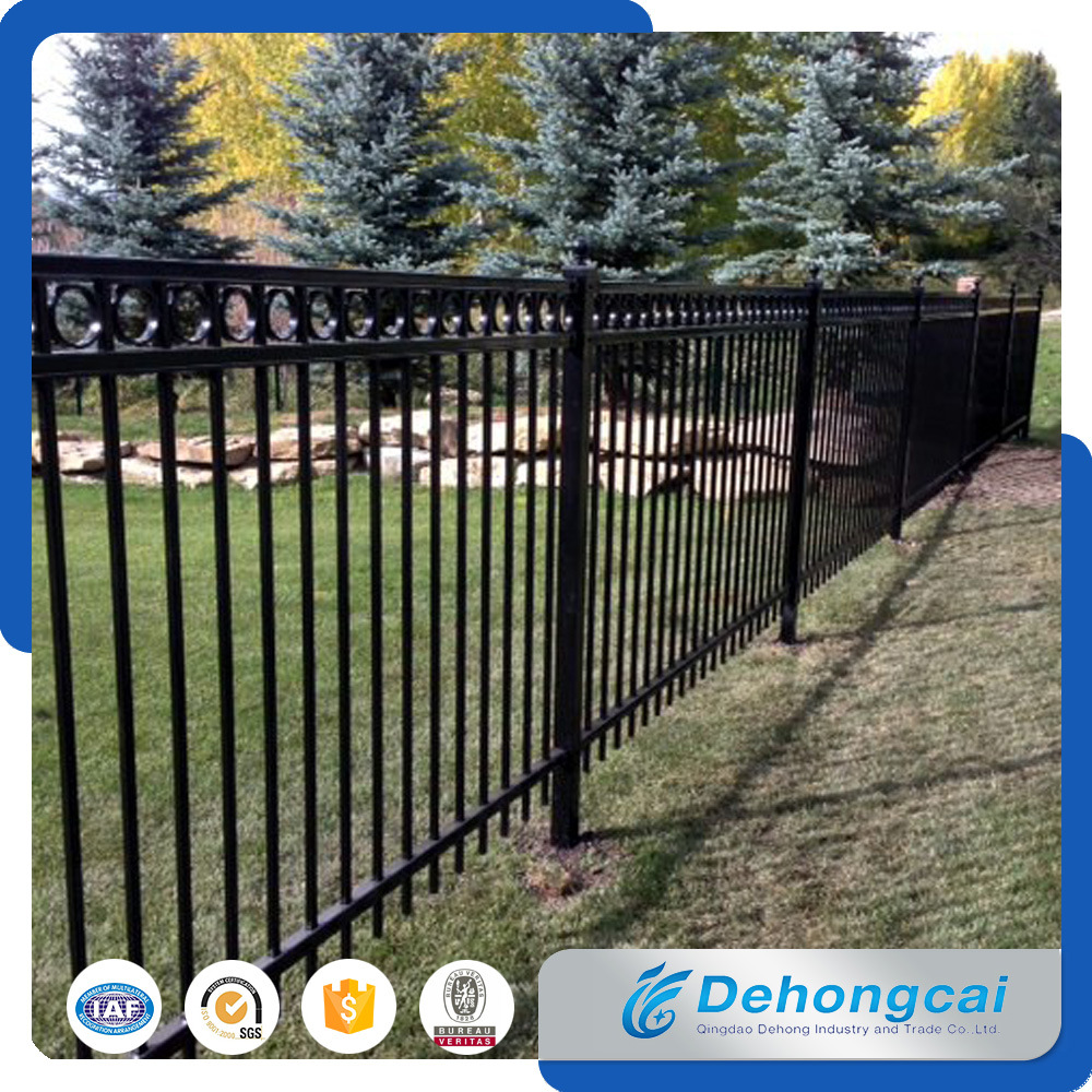Customized Wrought Iron Fence / Iron Fencing / Metal Fence / Courtyard Railing